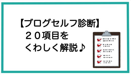 【ブログセルフ診断21項目:補足】残りの20項目を解説します(^^)